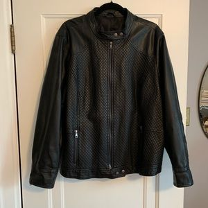 Other - Faux Leather Bomber Jacket